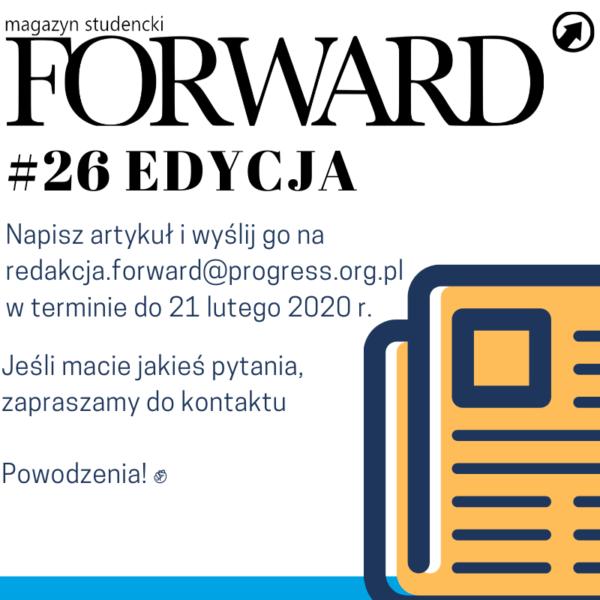 Konkurs na artykuł do Magazynu Forward #26